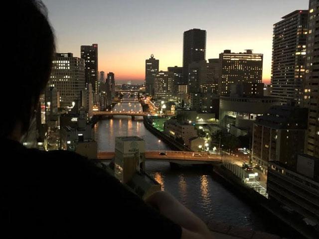 自宅から見える夜景に癒されます