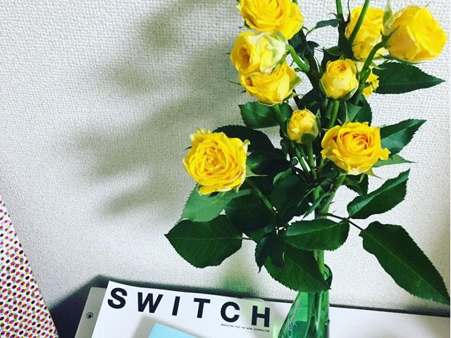 よくお花を買って、お家に飾ります
