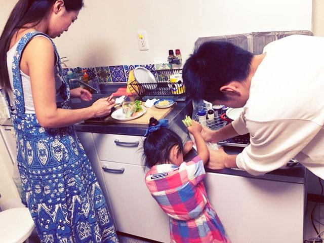 姪っ子が遊びに来て、一緒に料理を作ったりします