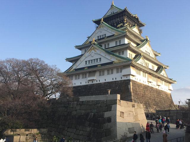 奥さんと大阪城